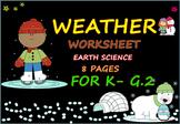 WEATHER  Worksheet for K.- G.2