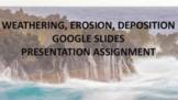 WEATHERING, EROSION, & DEPOSITION GOOGLE SLIDES PRESENTATION ASSIGNMENT