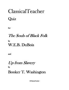 W.E.B. DuBois/Booker T. Washington Quiz