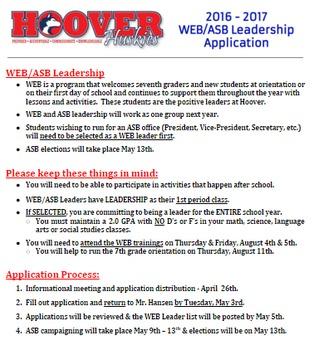 WEB Leadership Application