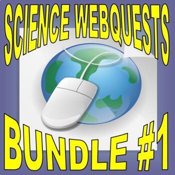 SCIENCE WEBQUEST Bundle #1 (10+ assignments / 30 pages) - Internet