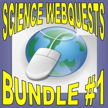 SCIENCE WEBQUEST Bundle #1 (10+ assignments / 30 pages) - Internet