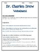 WEBQUEST: DR. CHARLES DREW
