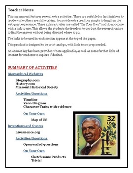 WEBQUEST: GEORGE WASHINGTON CARVER