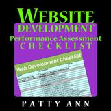 WEBSITE Development Performance NO PREP CHECKLIST & RUBRIC for Assessments!