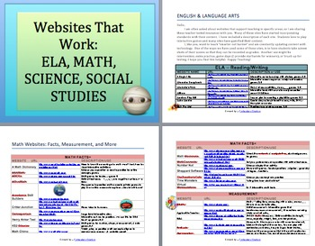 WEBSITES THAT WORK: K-5
