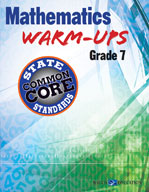 Mathematics Warm-Ups for CCSS: Grade 7
