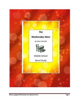 Middle School Novel Study (THE WEDNESDAY WARS)--Common Cor