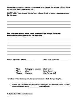 WEEK 10 8TH GRADE BELL RINGERS FOR READING & LA (FCAT PARCC COMMON CORE)