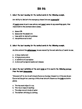 WEEK 20 8TH GRADE BELL RINGERS FOR READING & LA (FCAT PARCC COMMON CORE)