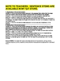 WEEK 3 8TH GRADE BELL RINGERS FOR READING & LA (FCAT PARCC COMMON CORE)
