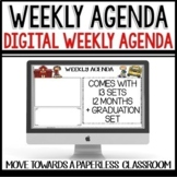 WEEKLY AGENDA NEWSLETTER (Use with GOOGLE SLIDES) editable