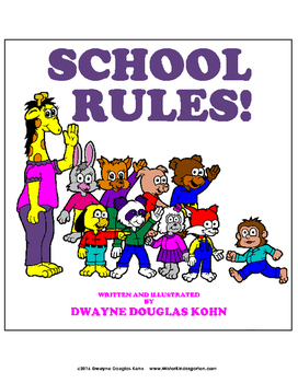 WEEKLY FREEBIE #101 - SCHOOL RULES! Coloring Pages