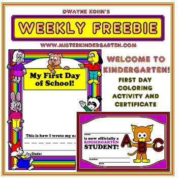 WEEKLY FREEBIE #104 - Welcome to Preschool/Kindergarten!