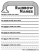 WEEKLY FREEBIE #107 - Rainbow Names