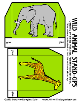 WEEKLY FREEBIE #108: Wild Animal Stand Ups!