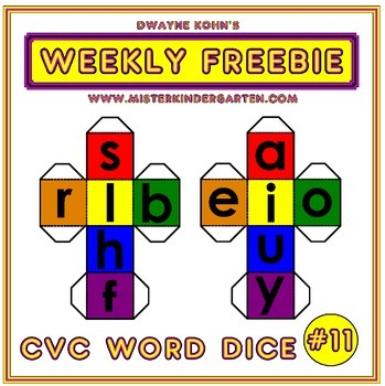 WEEKLY FREEBIE #11: CVC Word Dice