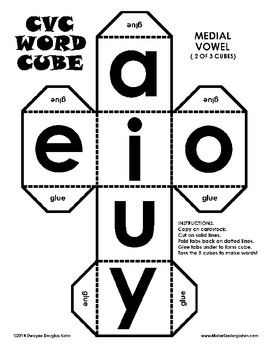 WEEKLY FREEBIE #11: CVC Word Dice