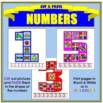 WEEKLY FREEBIE #110 - Cut and Paste Numbers