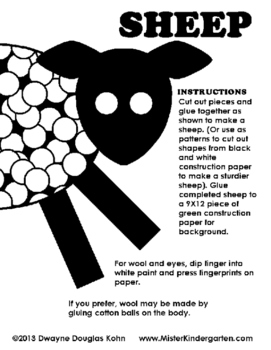 WEEKLY FREEBIE #112 - Finger Paint Sheep
