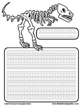 WEEKLY FREEBIE #19: Dinosaur Stationery