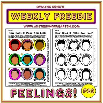 WEEKLY FREEBIE #23: Feelings and Illustrations