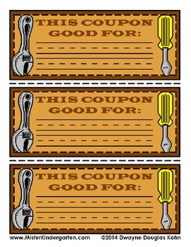 WEEKLY FREEBIE #24: Father's Day Coupon Book