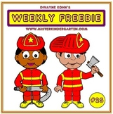 WEEKLY FREEBIE #25: Firefighter Paper Bag Puppets
