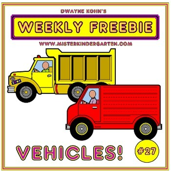 WEEKLY FREEBIE #27: Vehicles paper craft activity