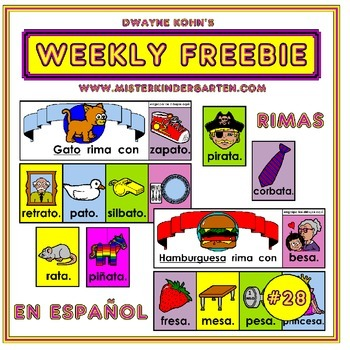 WEEKLY FREEBIE #28: Rimas en Espanol (Rhymes in Spanish)