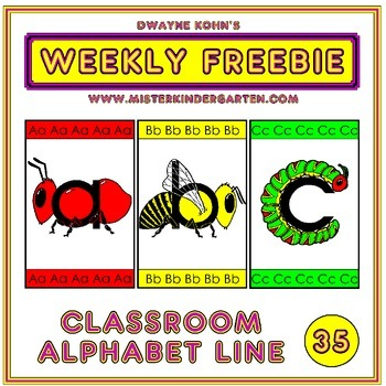 WEEKLY FREEBIE #35: Classroom Alphabet Line