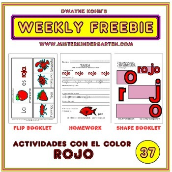 WEEKLY FREEBIE #37: Actividades para el color ROJO