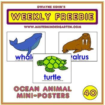 WEEKLY FREEBIE #40: Ocean Mini Posters