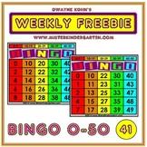 WEEKLY FREEBIE #41: BINGO Game Numbers 0-50