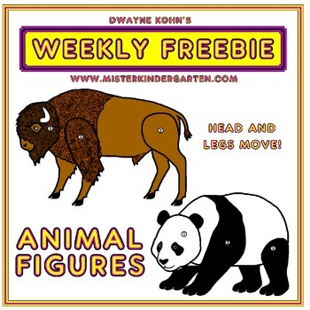 WEEKLY FREEBIE #45: Bison and Panda Animal Figures