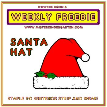 WEEKLY FREEBIE #47: Santa Hat