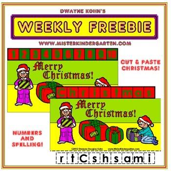 WEEKLY FREEBIE #48: Christmas Cut and Paste