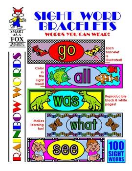 WEEKLY FREEBIE #53: Sight Word Bracelets