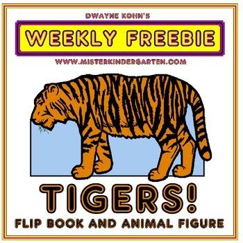 WEEKLY FREEBIE #61: TIGERS! Flip book and animal figure