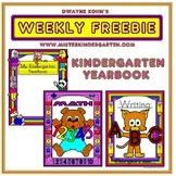 WEEKLY FREEBIE #69: Kindergarten Yearbook