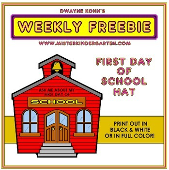 WEEKLY FREEBIE #72: First Day of School Hat