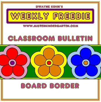 WEEKLY FREEBIE #73: Flower Bulletin Board Border