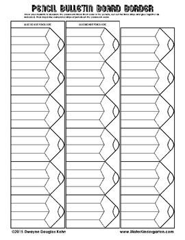 WEEKLY FREEBIE #74: Pencil Bulletin Board Border
