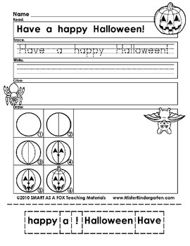 WEEKLY FREEBIE #81: Halloween Cut, Paste and Draw!