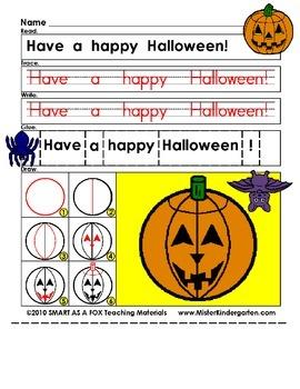WEEKLY FREEBIE #81: Halloween Cut, Paste and Draw!