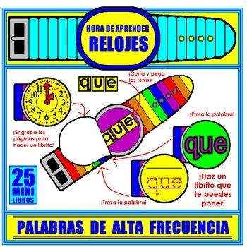 WEEKLY FREEBIE #82: Relojes de Palabras de Alta Frecuencia