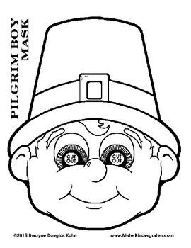 WEEKLY FREEBIE #82: Thanksgiving Pilgrim Masks!