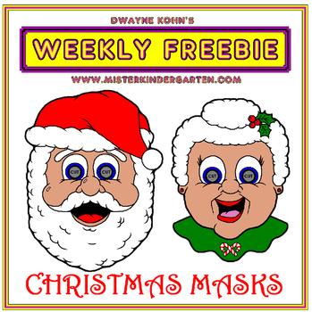 WEEKLY FREEBIE #86: Christmas Masks