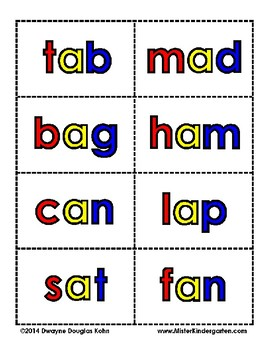 WORD FLASH CARDS:  CVC words, CCVC/CVCC words, Long Vowels, Controlled R words