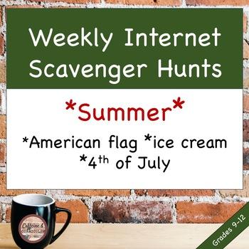 WEEKLY Internet Scavenger Hunts for MLA (Summer Edition)
